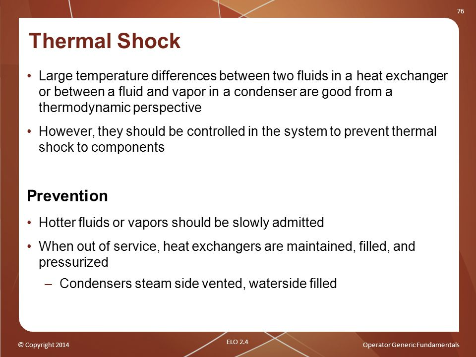 Thermal Shock Prevention