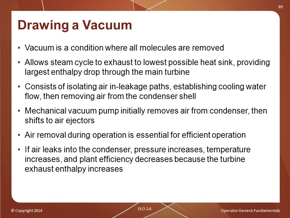 Drawing a Vacuum Vacuum is a condition where all molecules are removed