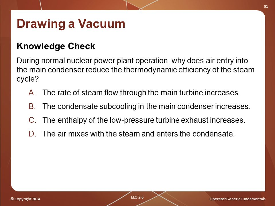 Drawing a Vacuum Knowledge Check