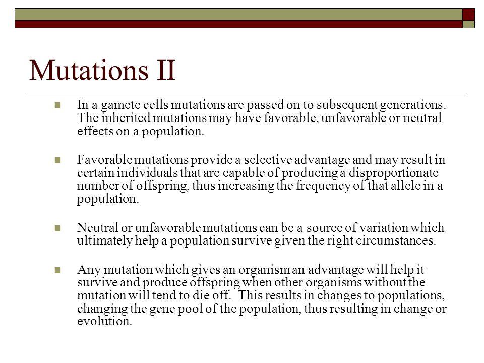 Mutations II