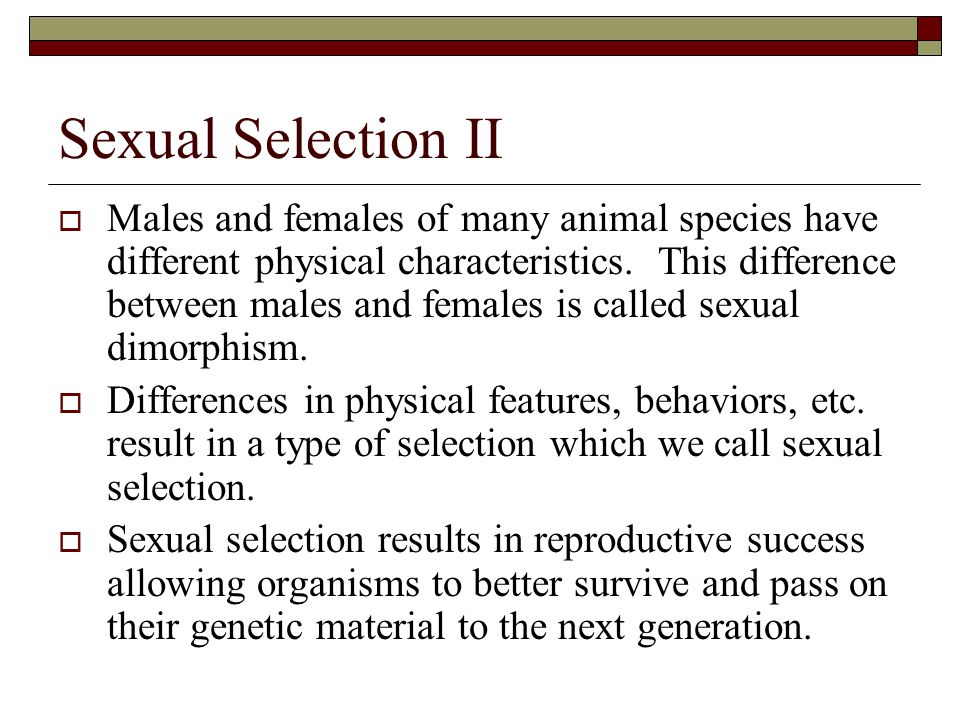 Difference Between Sexual Selection And Natural Selection