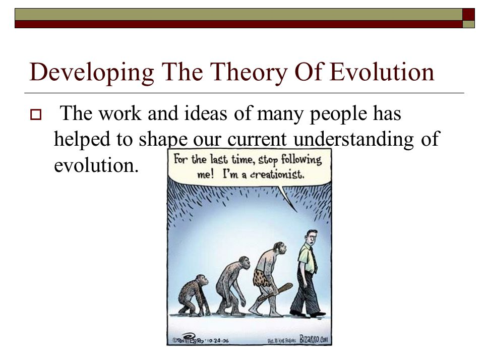 Developing The Theory Of Evolution