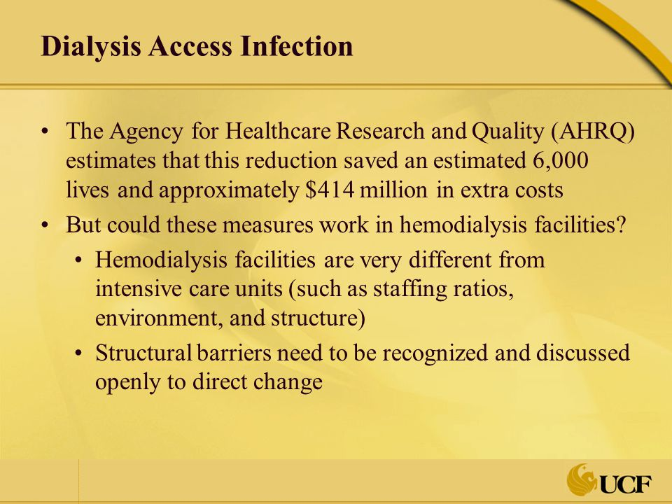 Dialysis Access Infection