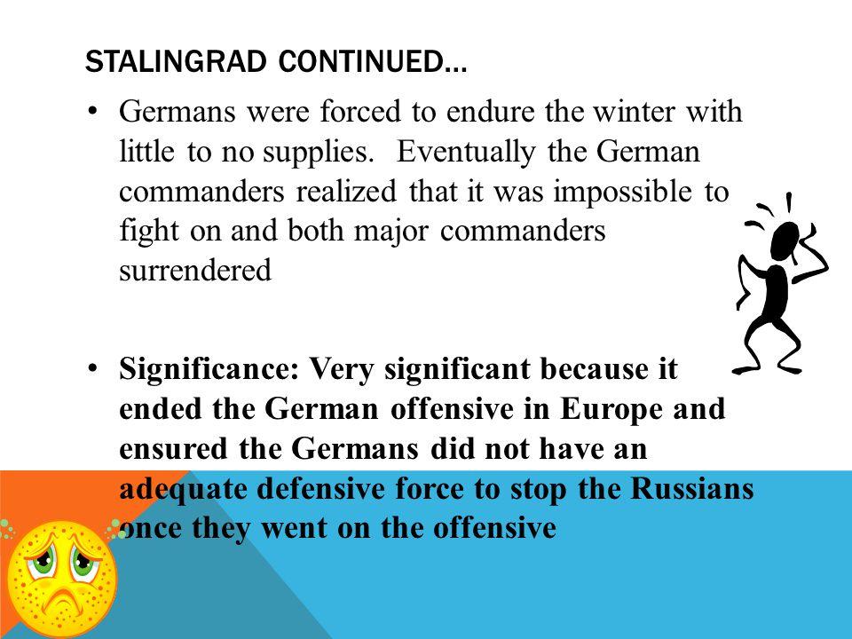 Stalingrad continued…
