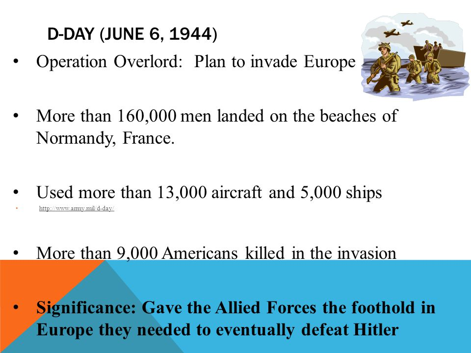 Operation Overlord: Plan to invade Europe