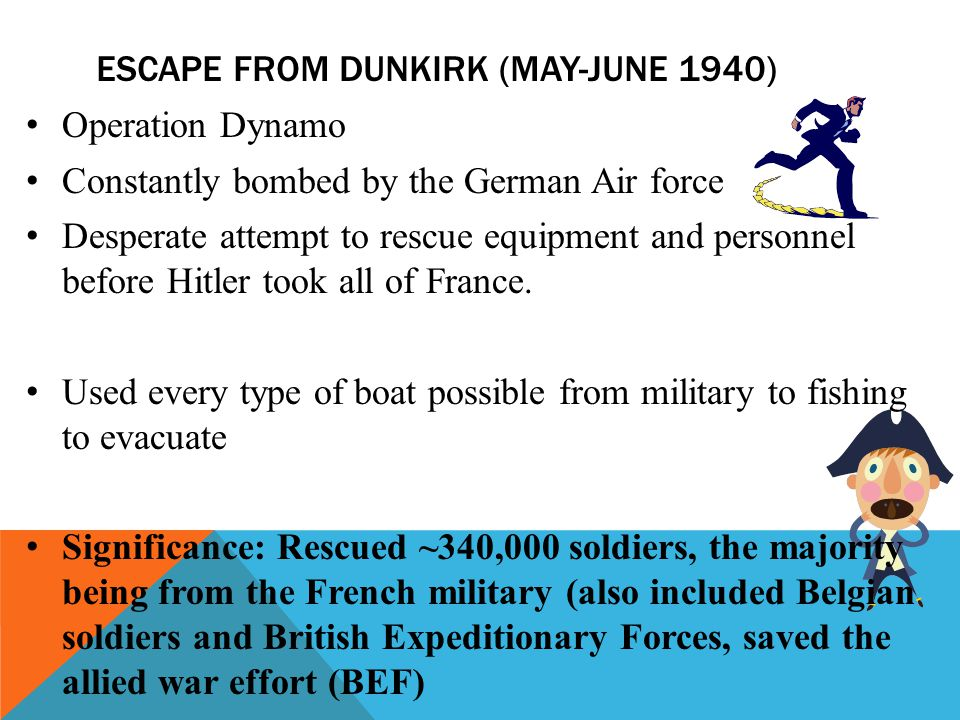Escape from Dunkirk (May-June 1940)