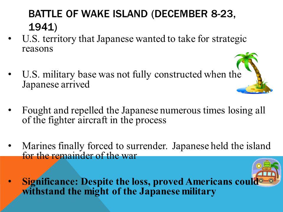 Battle of wake island (December 8-23, 1941)