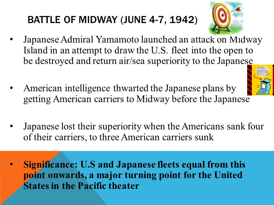 Battle of midway (June 4-7, 1942)