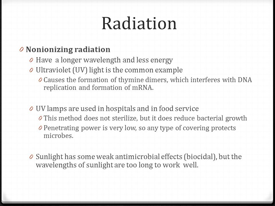 Radiation Nonionizing radiation