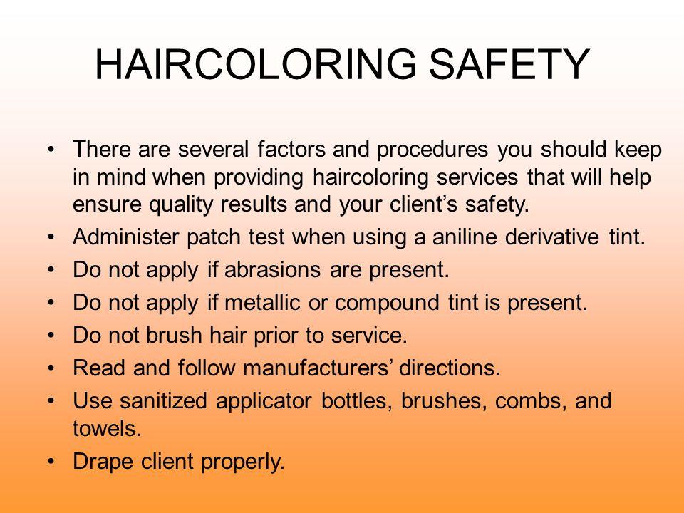 HAIRCOLORING SAFETY