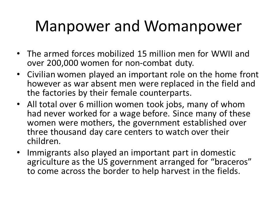 Manpower and Womanpower