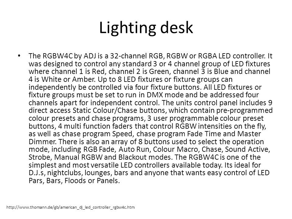 Lighting desk