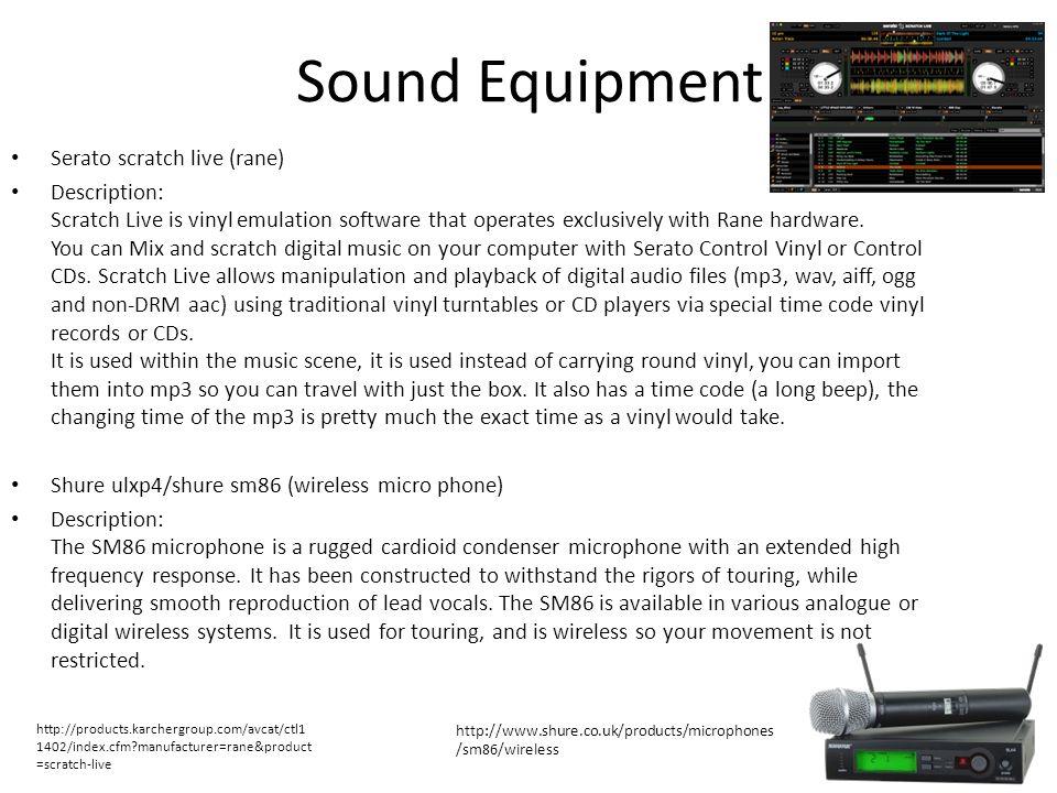 Sound Equipment Serato scratch live (rane)