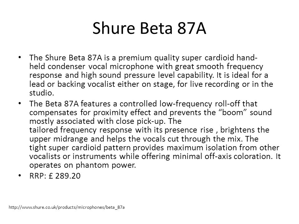 Shure Beta 87A
