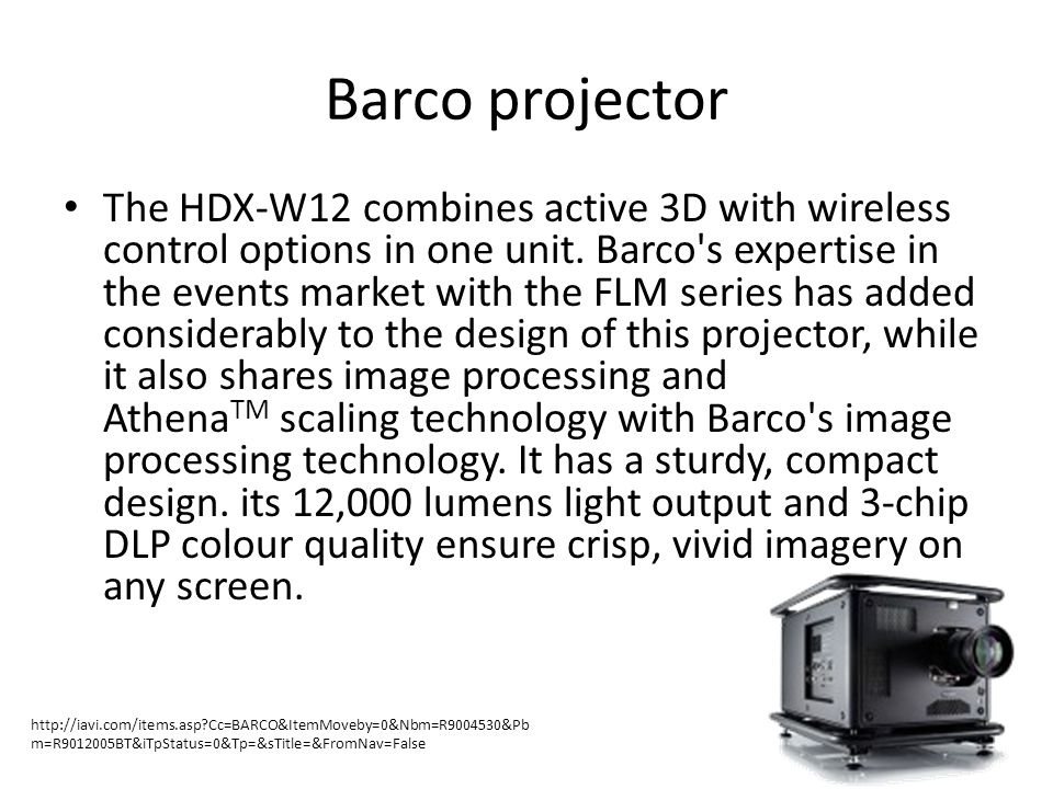 Barco projector