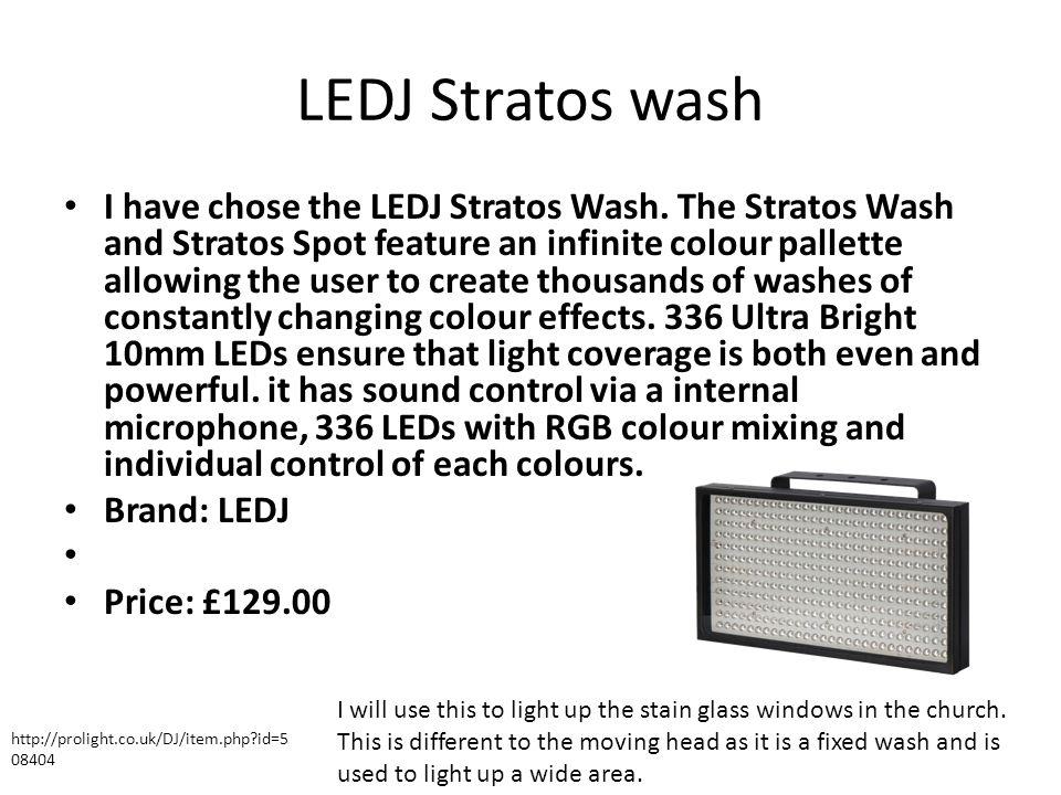 LEDJ Stratos wash