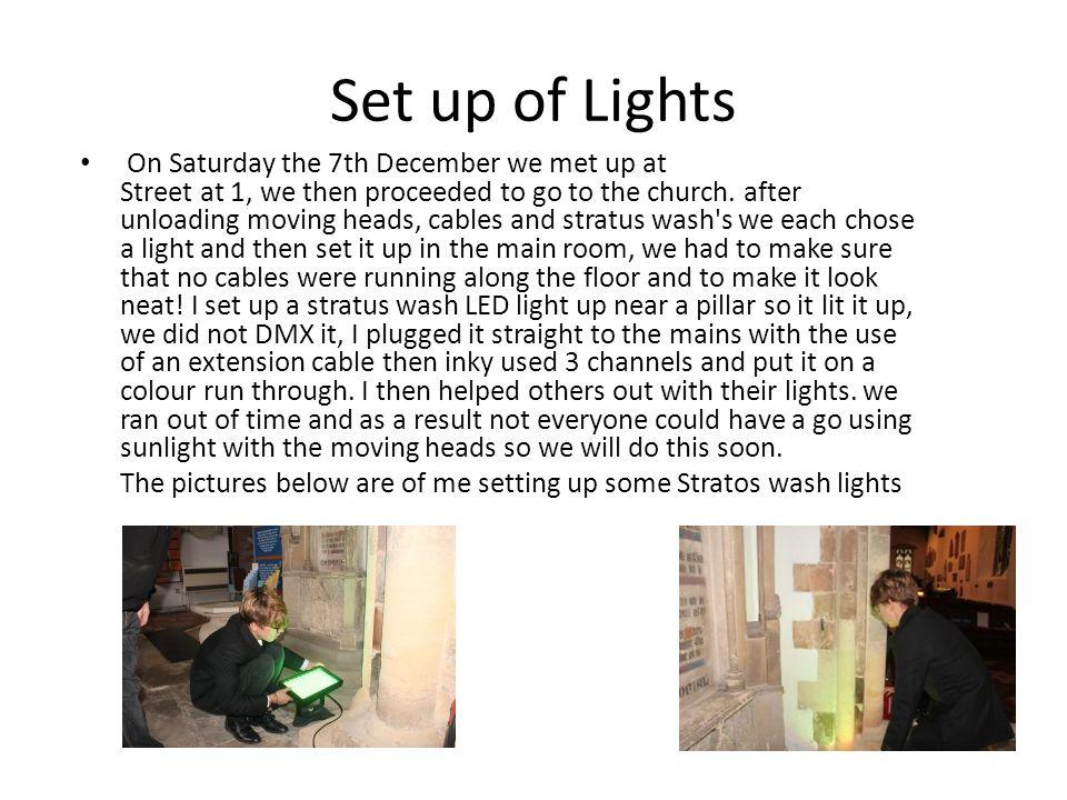 Set up of Lights