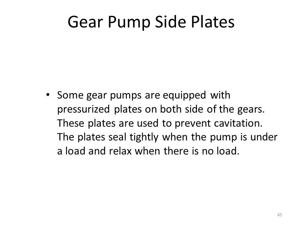 Gear Pump Side Plates