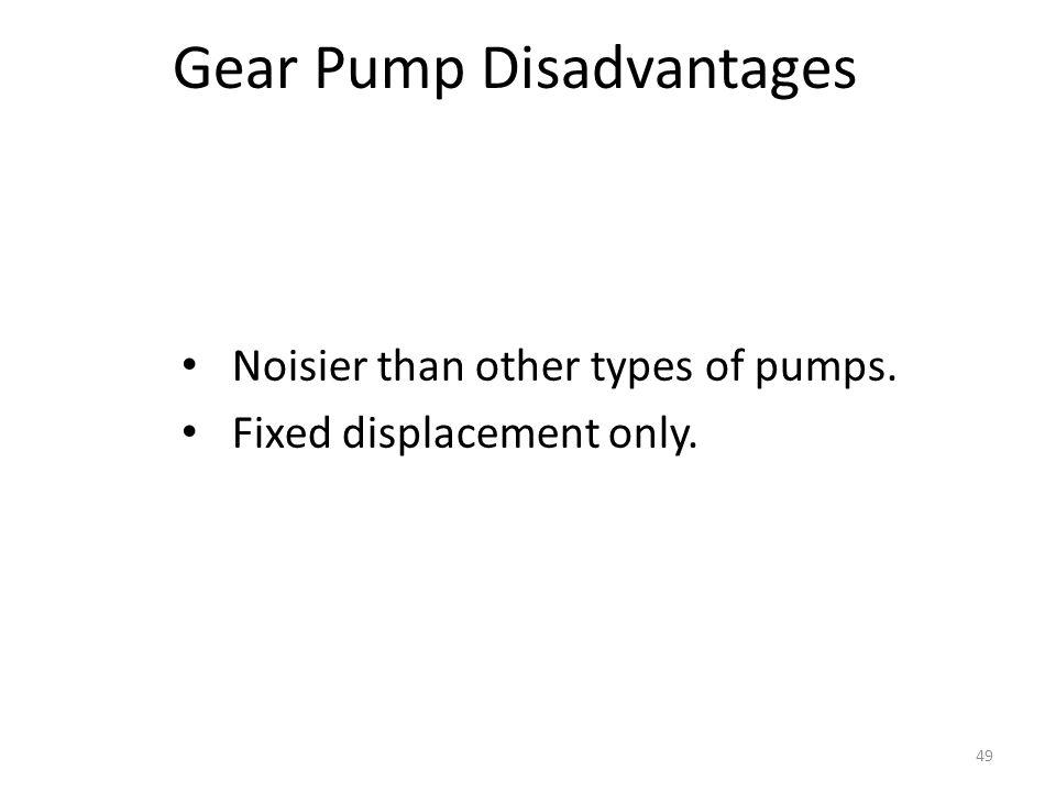 Gear Pump Disadvantages