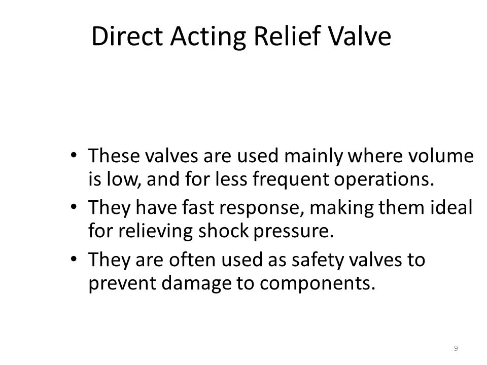 Direct Acting Relief Valve