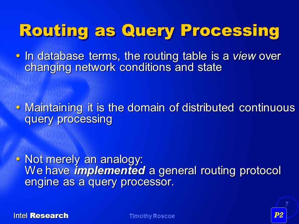Routing as Query Processing