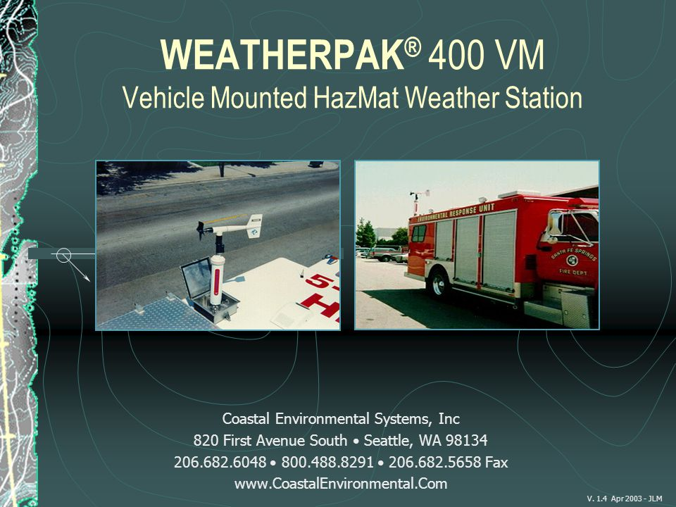 WEATHERPAK® 400 VM Vehicle Mounted HazMat Weather Station