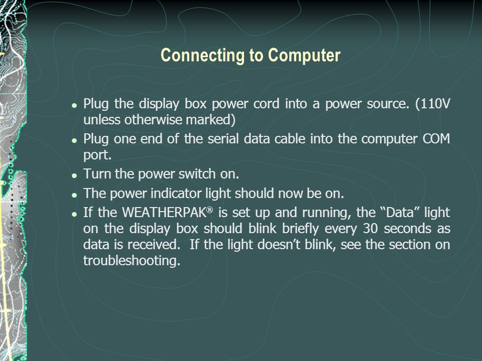 Connecting to Computer