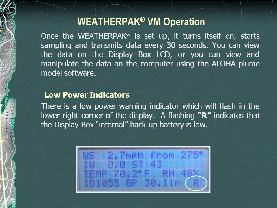 WEATHERPAK® VM Operation