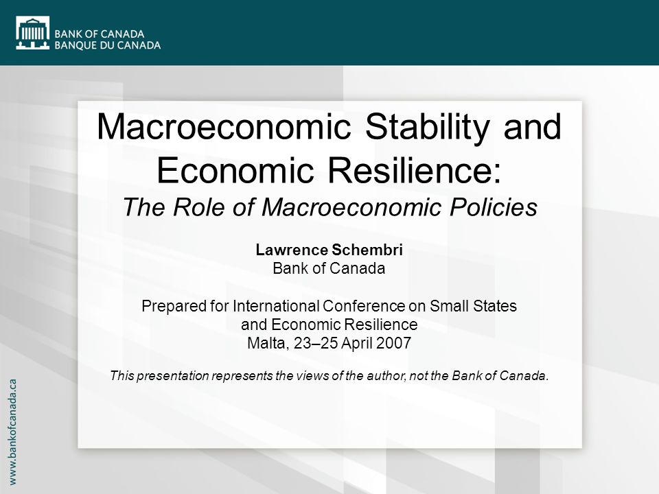 Macroeconomic Stability and Economic Resilience: