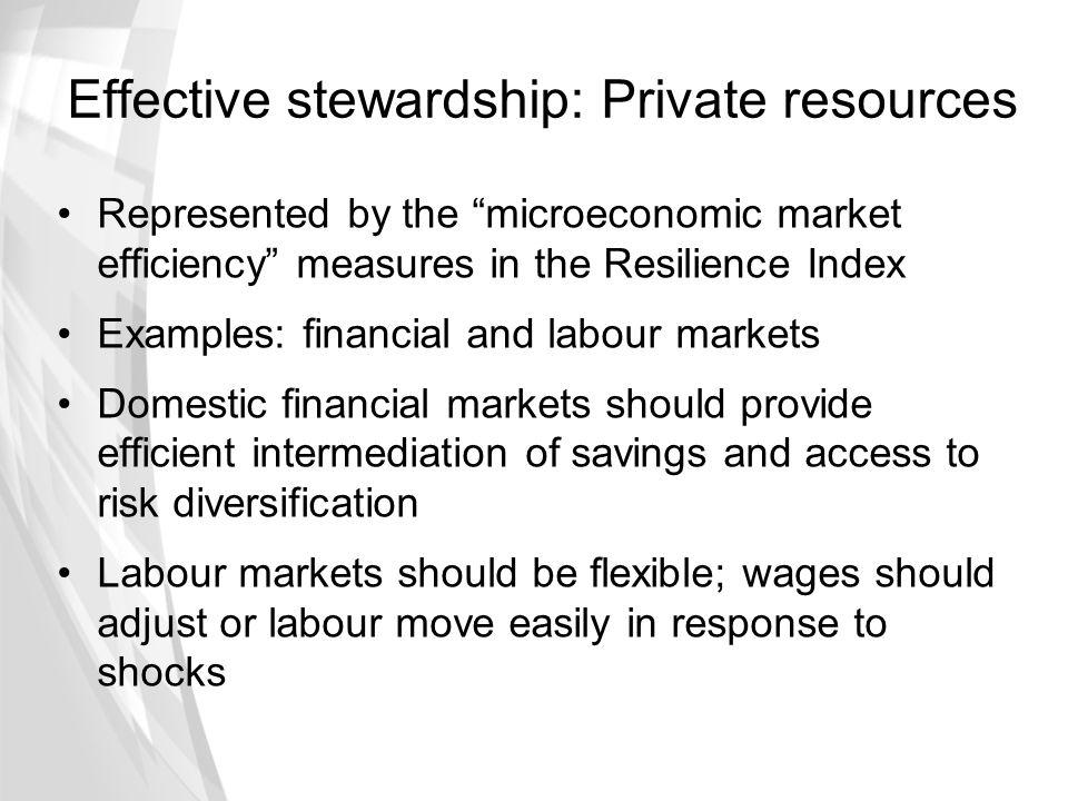 Effective stewardship: Private resources