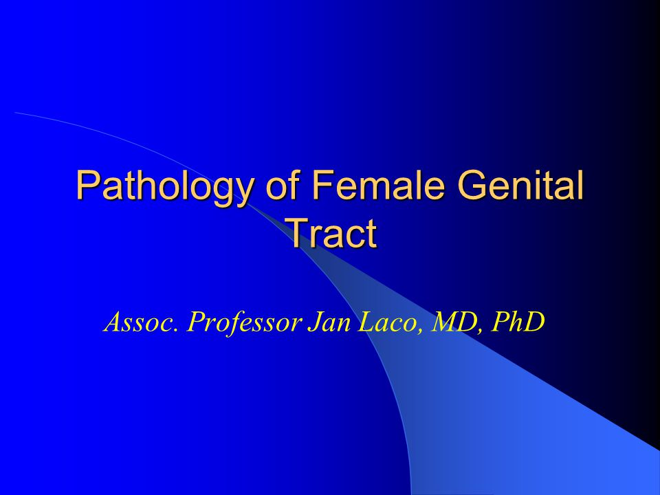Pathology of Female Genital Tract