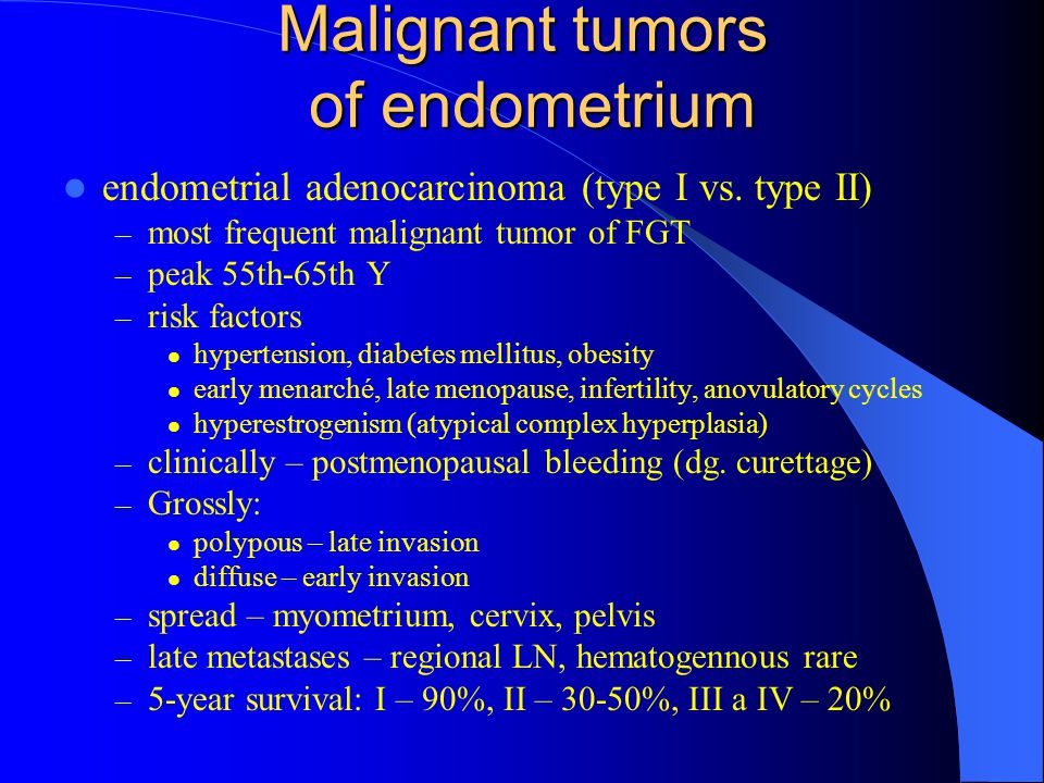 Malignant tumors of endometrium