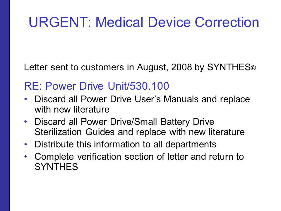 URGENT: Medical Device Correction