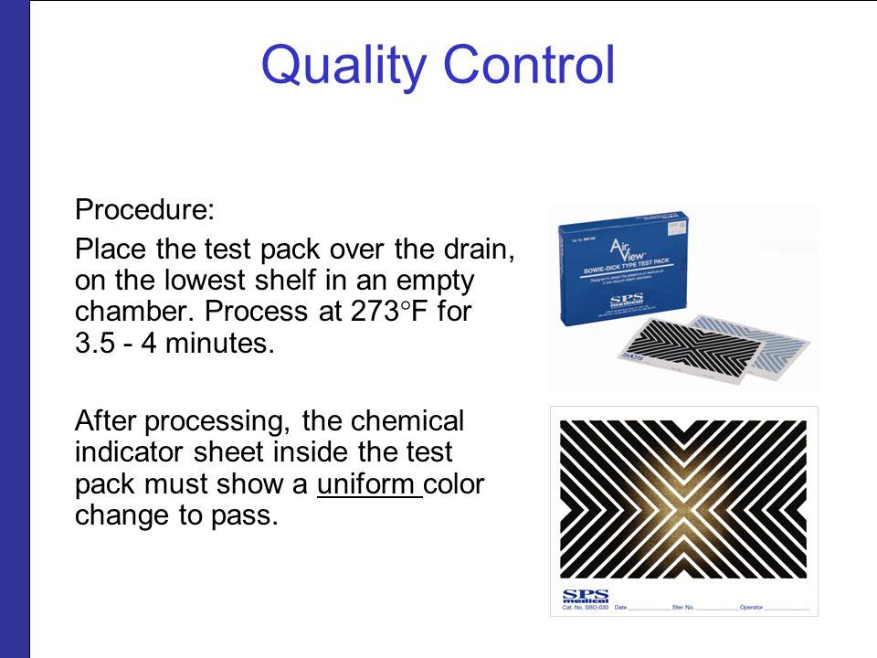 Quality Control Procedure: