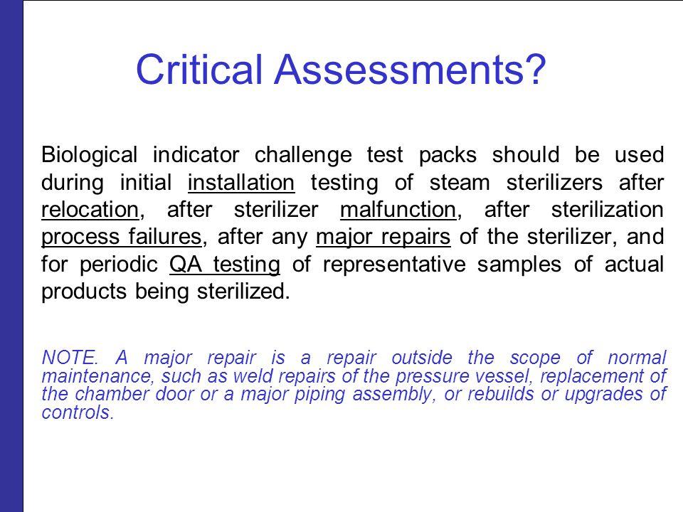 Critical Assessments