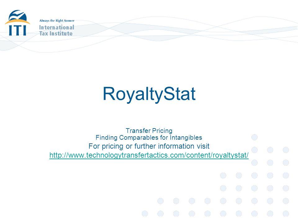 RoyaltyStat For pricing or further information visit