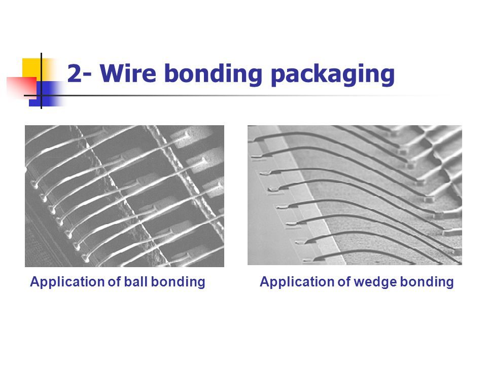 2- Wire bonding packaging