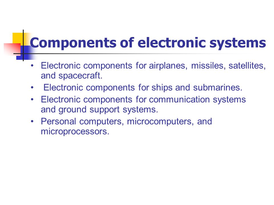 Components of electronic systems