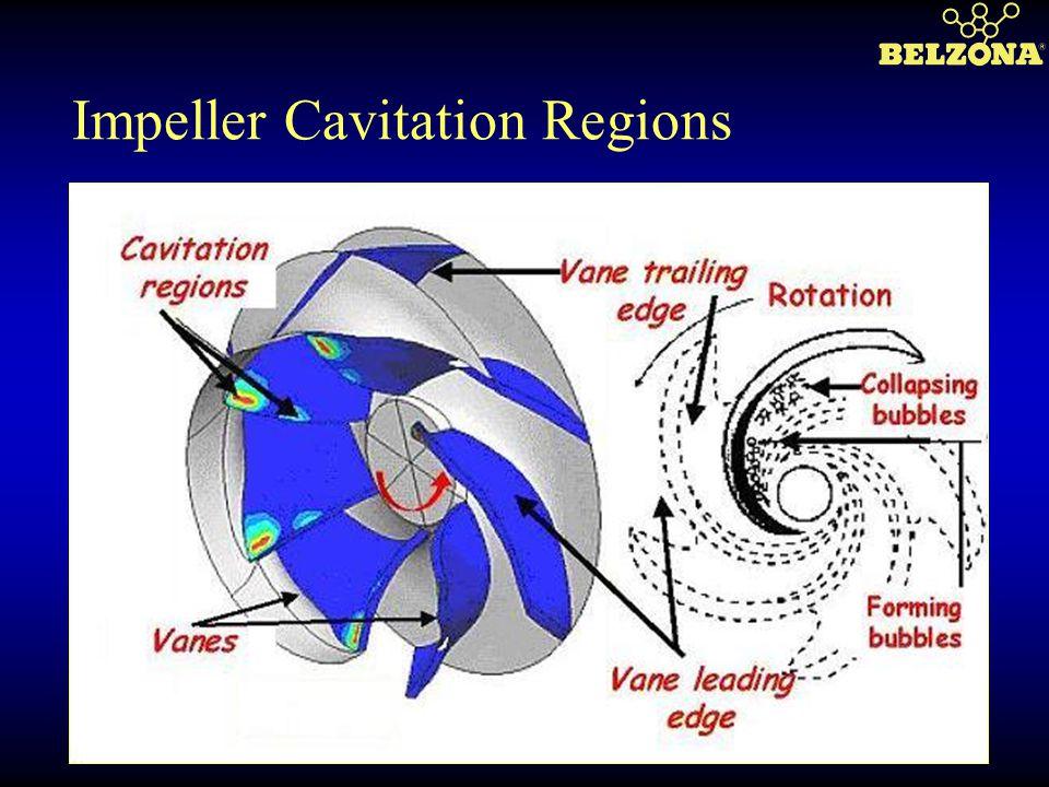Impeller Cavitation Regions
