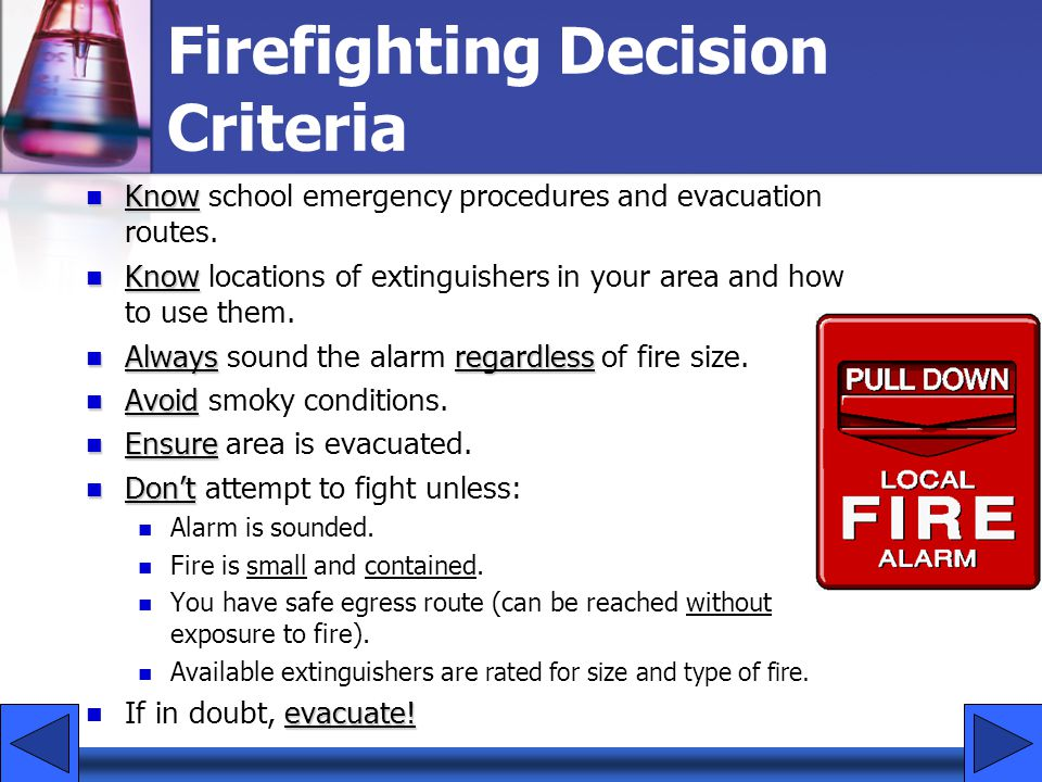 Firefighting Decision Criteria