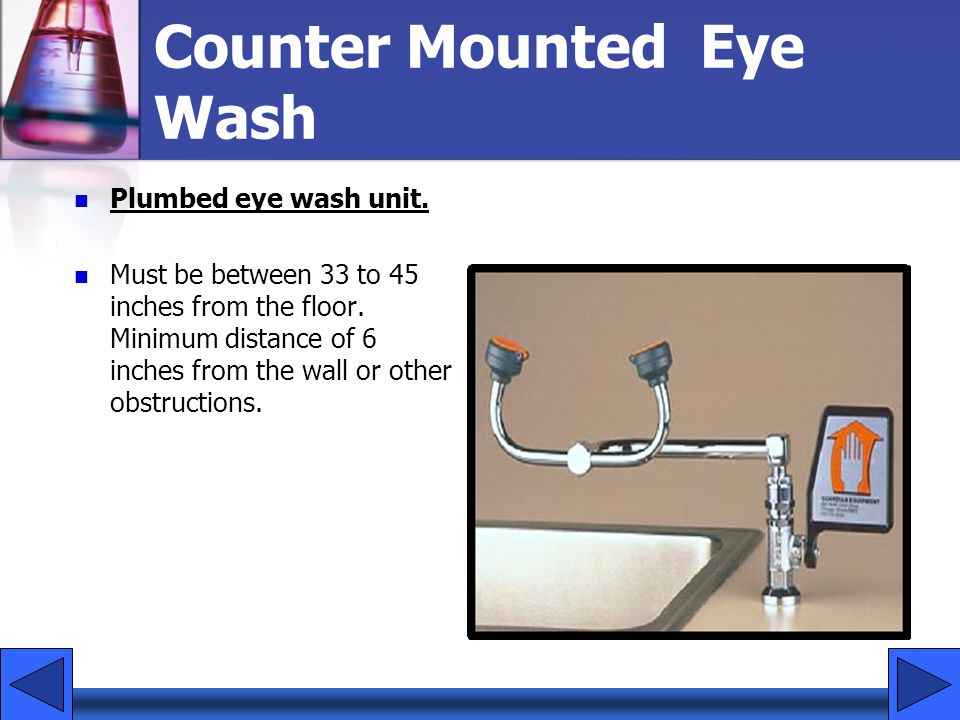 Counter Mounted Eye Wash