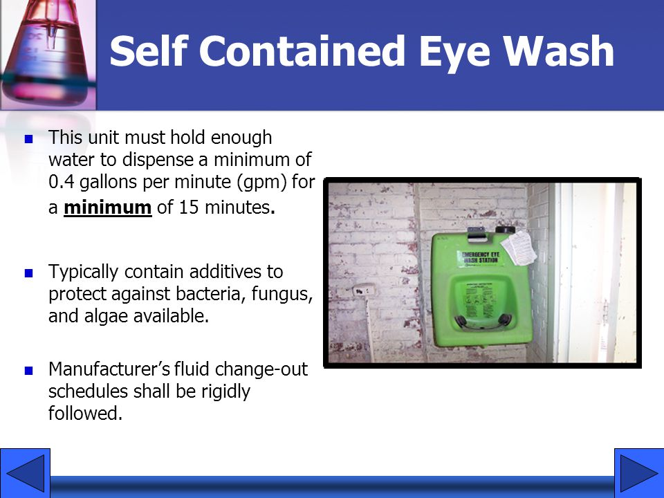 Self Contained Eye Wash