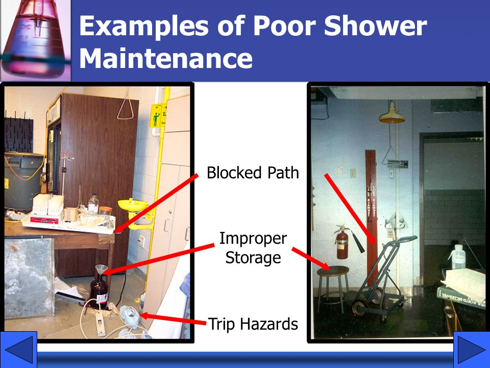 Examples of Poor Shower Maintenance