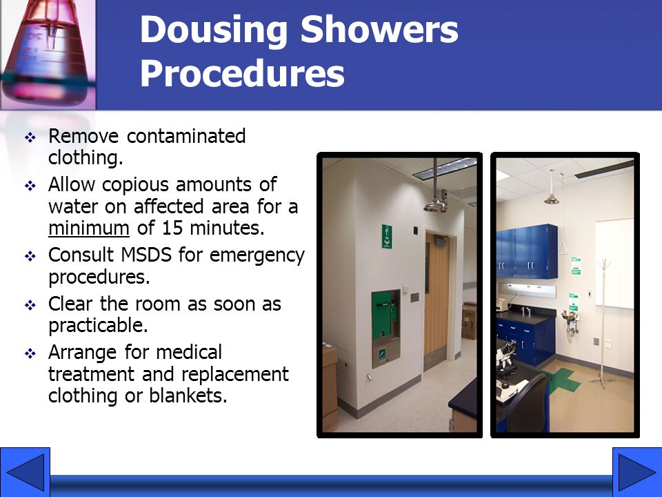 Dousing Showers Procedures