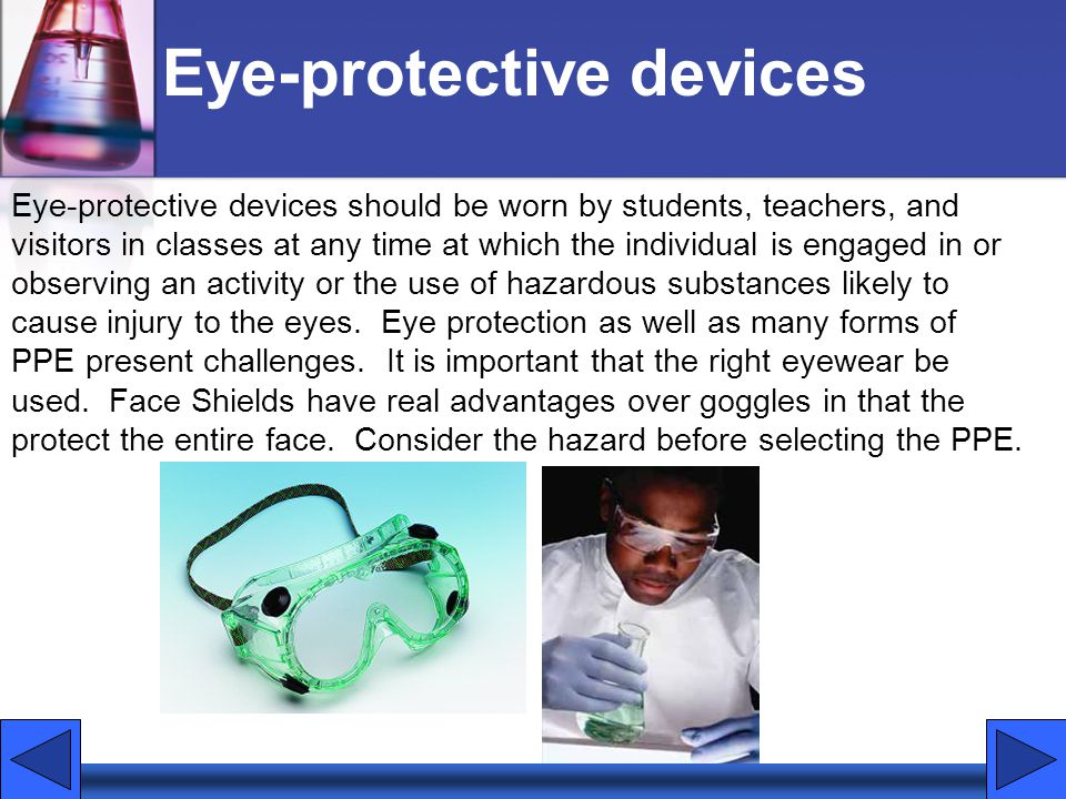 Eye-protective devices