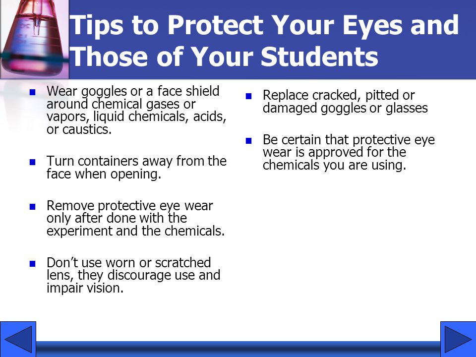 Tips to Protect Your Eyes and Those of Your Students