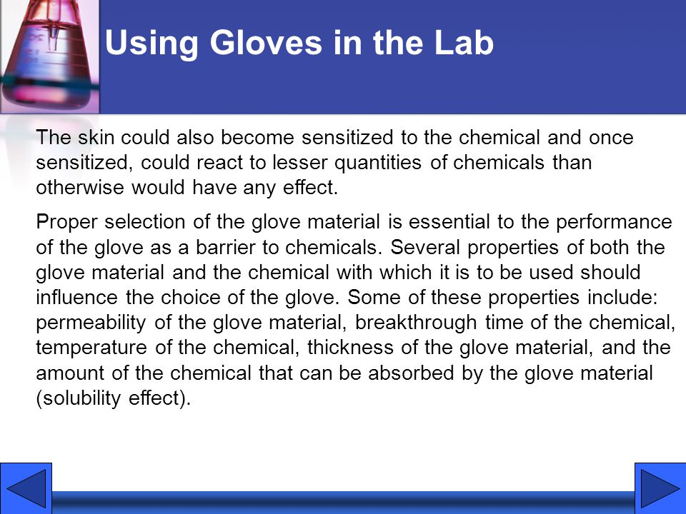 Using Gloves in the Lab