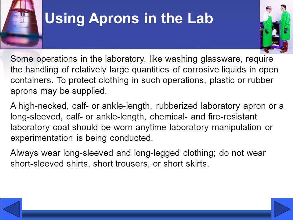 Using Aprons in the Lab