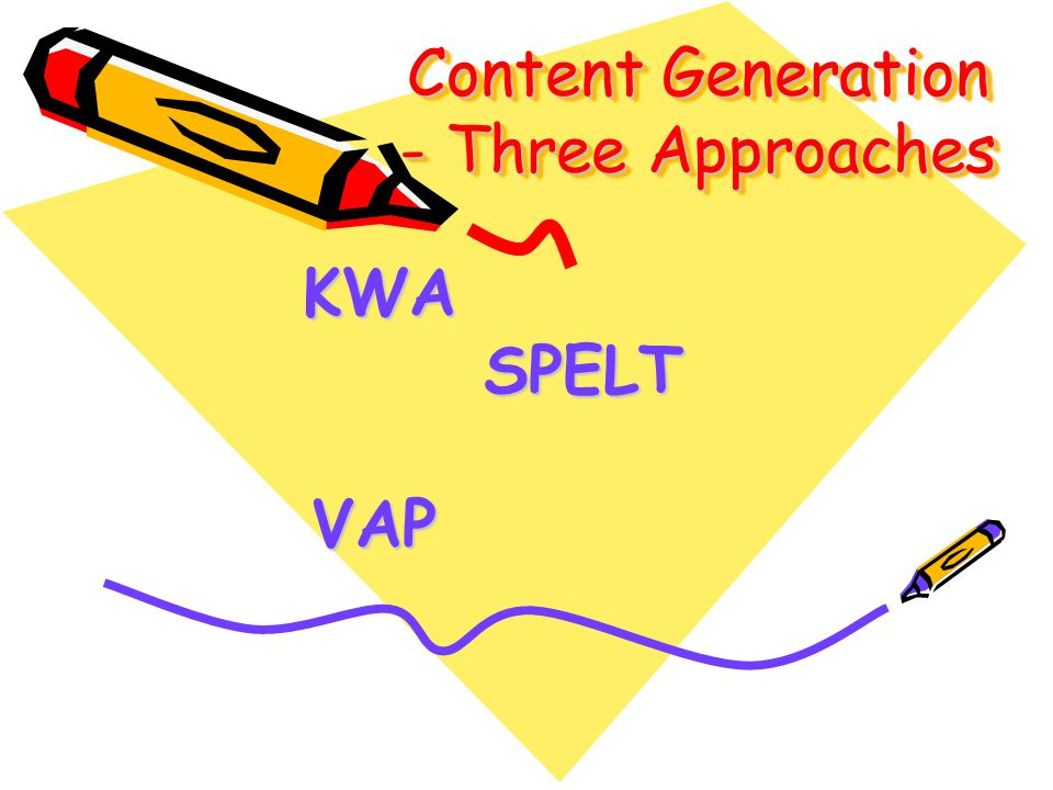 Content Generation - Three Approaches