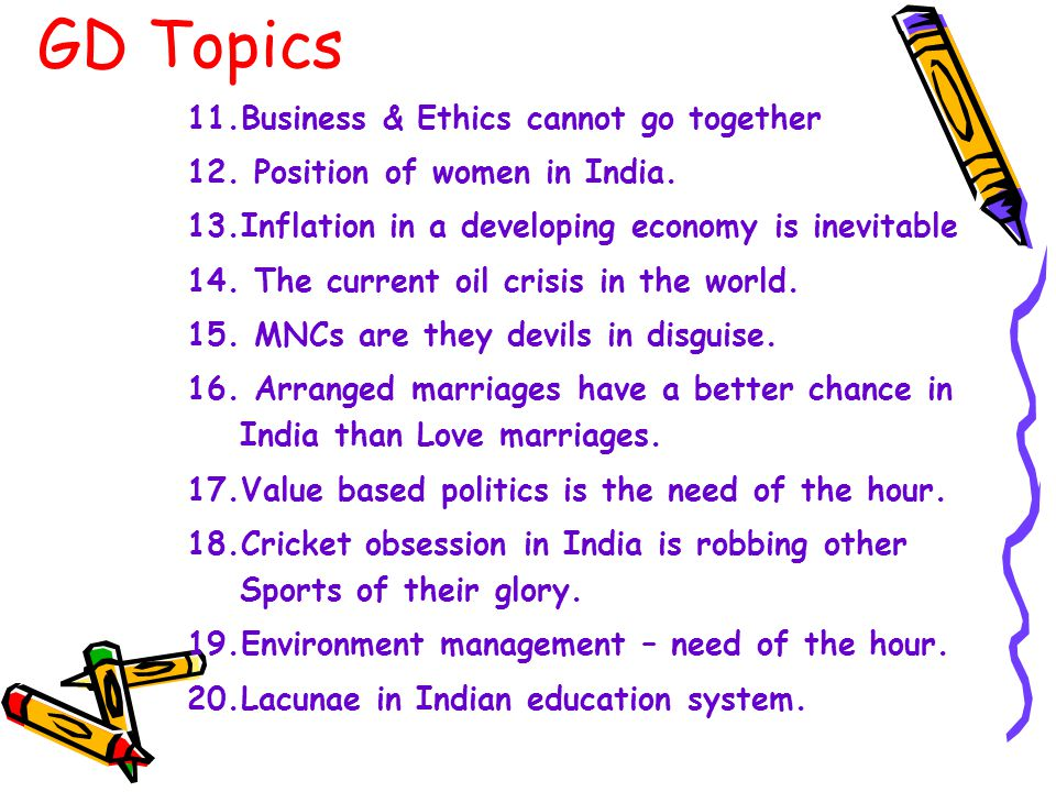 GD Topics 11.Business & Ethics cannot go together